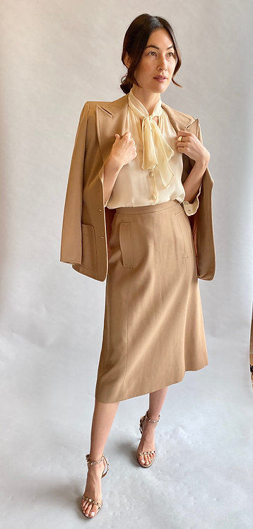 Yves Saint Laurent 1970's Skirt Suit