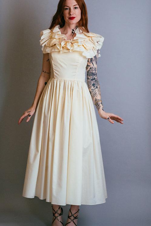 I.magnin Ruffled Day Dress