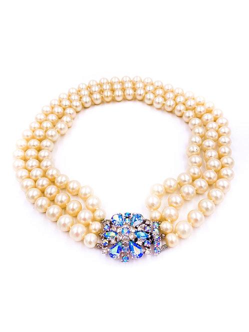 Joseph Mazer Pearl Choker Necklace
