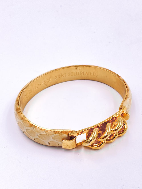 Vita Snakeskin Bangle Bracelet