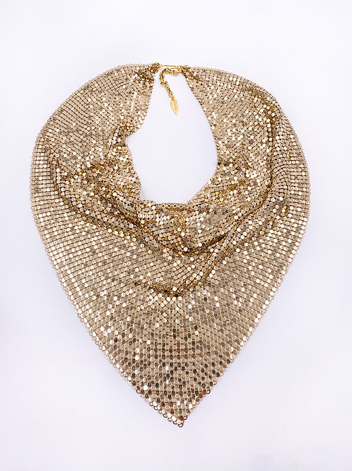 Whiting & Davis Chainmail Scarf Necklace