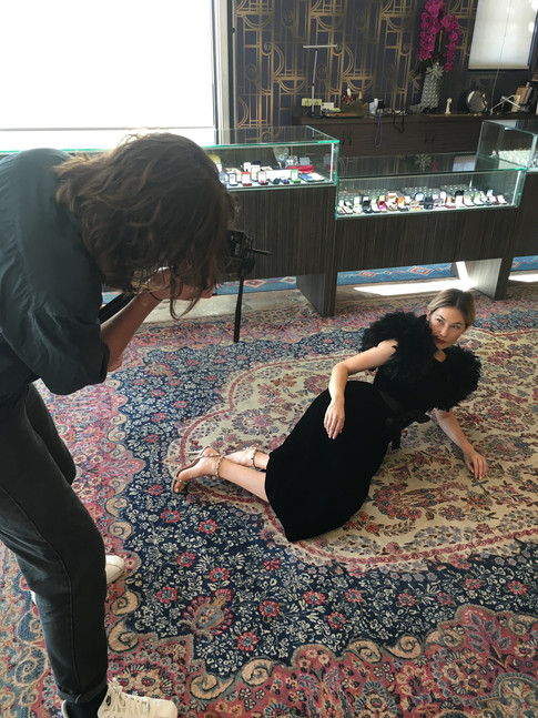 Woman Posing on Floor