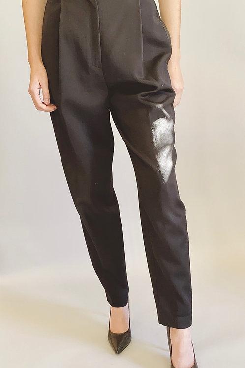 Byblos Black Wool Tuxedo Pant