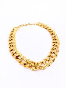 Monet Gold Link Necklace