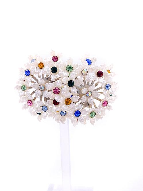 Floral Bouquet Clip On Earrings