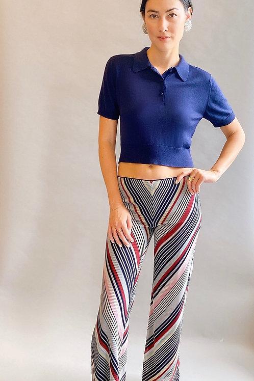 Missoni Chevron Striped Knit Pants