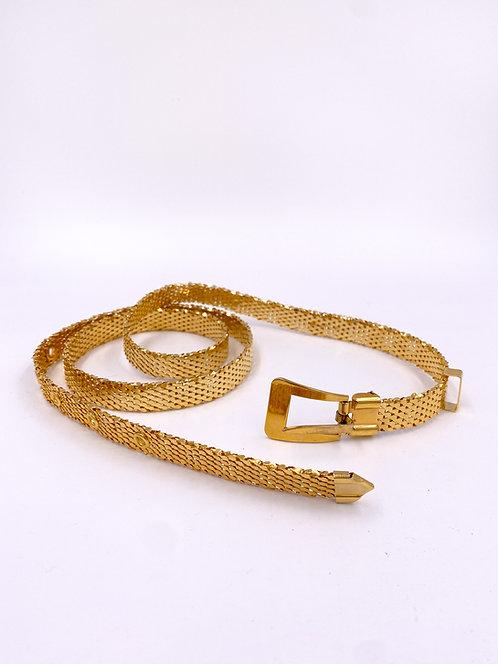 Gold Metal Mesh Buckle Belt