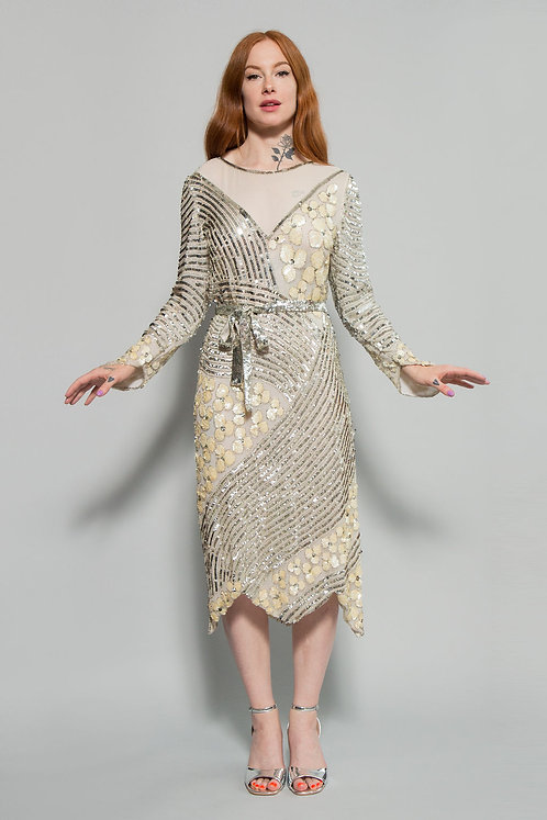 Silk Sequin Cocktail Dress by Judith Ann Creations