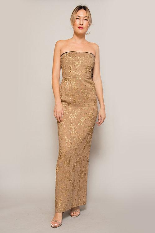 Jean Paul Gaultier Gold Strapless Dress