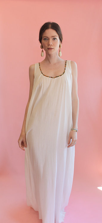 Jane Booke Cotton Dress with Cape Detail