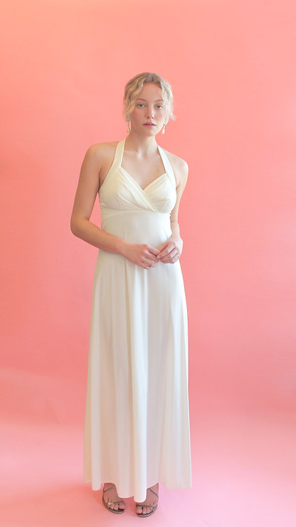 White Jersey Gown