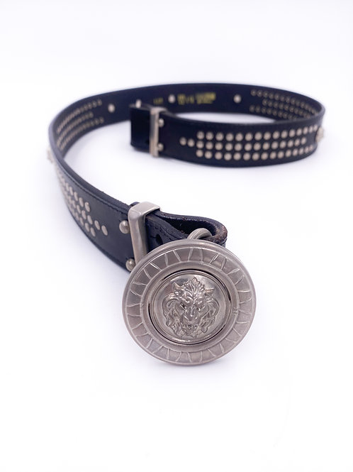 Versus Leather Lion Belt