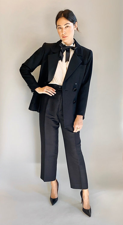 Yves Saint Laurent Smoking Jacket & Tuxedo Pants Suit