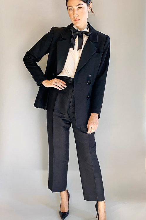 Yves Saint Laurent Smoking Jacket & Tuxedo Pants Suit