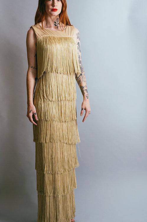 Fred Perllberg 60's Full Fringe Gown