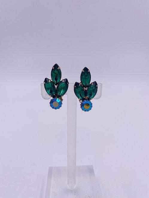 1950's Emerald Clip Earrings