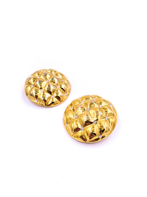 Gold Quilted Earrings