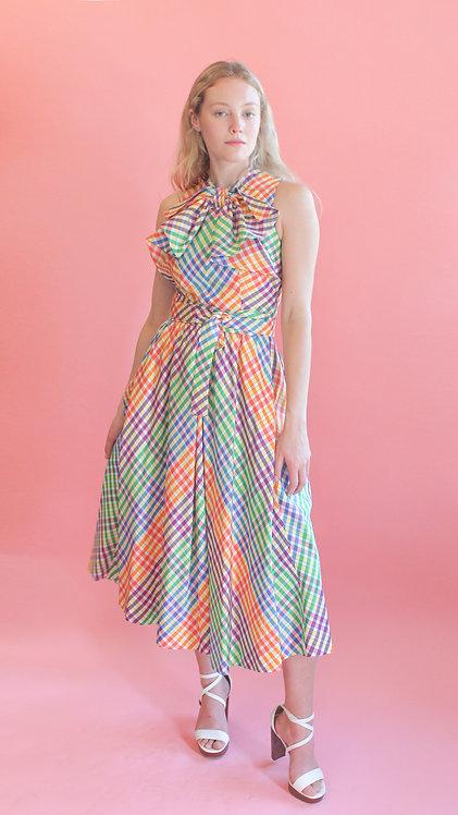 Geoffrey Beene Taffeta Gingham Dress