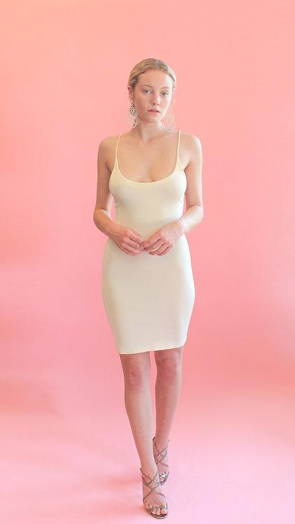 White Body Con Slip Dress