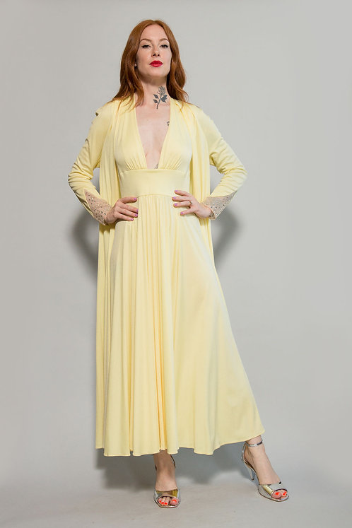 70s Jersey Dress and Duster Set