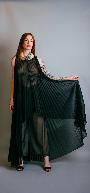 60's Pleated Dress/Lingerie Set