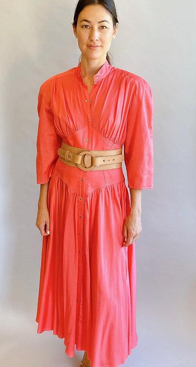 Thierry Mugler Salmon Cotton Dress