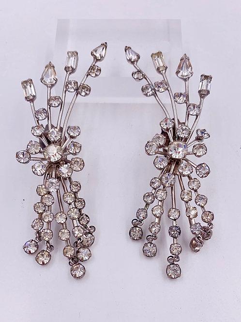 1970's Crystal Climber Earrings