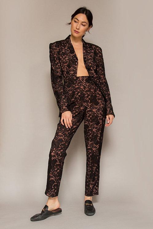 Norma Kamali Lace Suit W/ Silk Lining