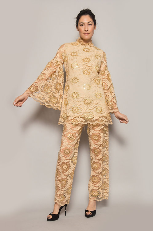 Pat Richards Lace Pant and Tunic Set