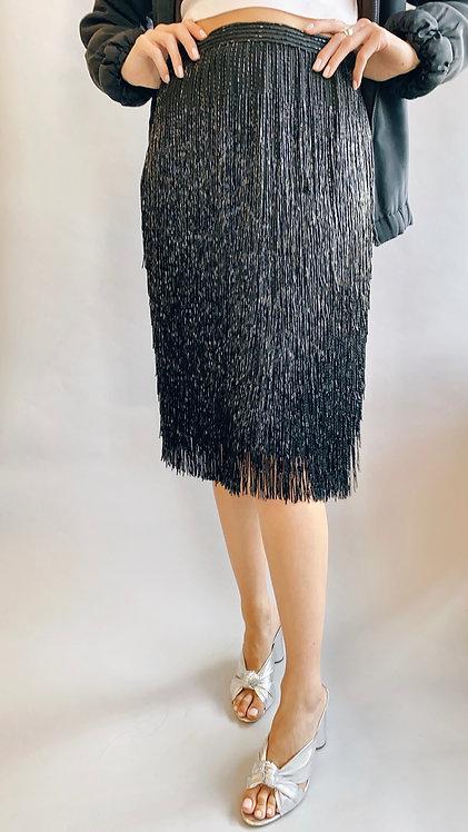 Victoria Royal Beaded Fringe Skirt