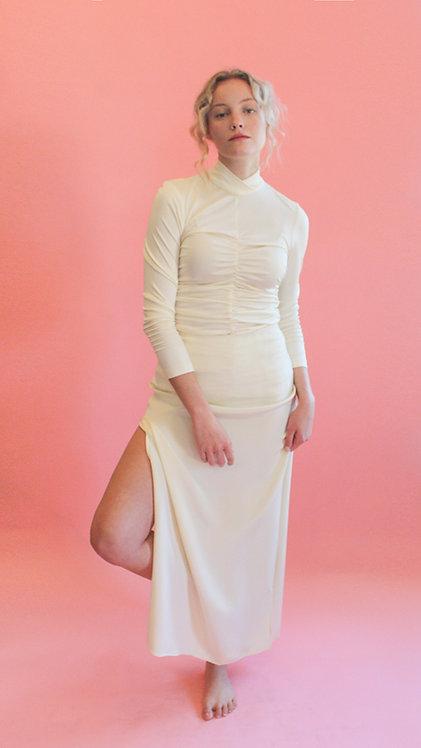 Jane Booke Silk Cream Tie Skirt