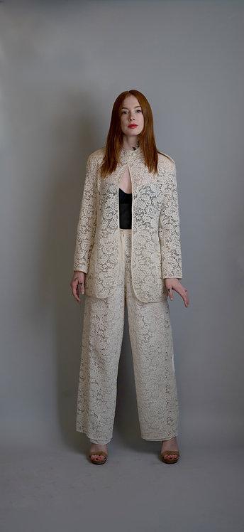 Giorgio Armani White/Cream Lace Suit