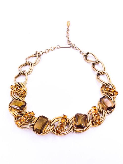 Citrine Style Stone Necklace