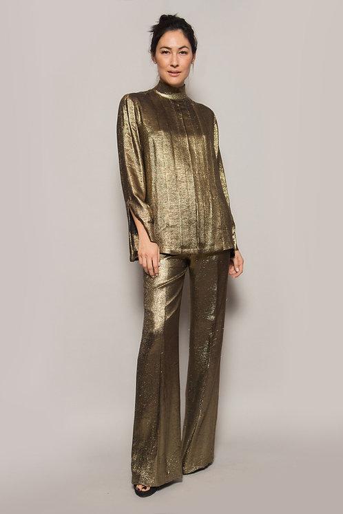 Gold Lurex Pant Set