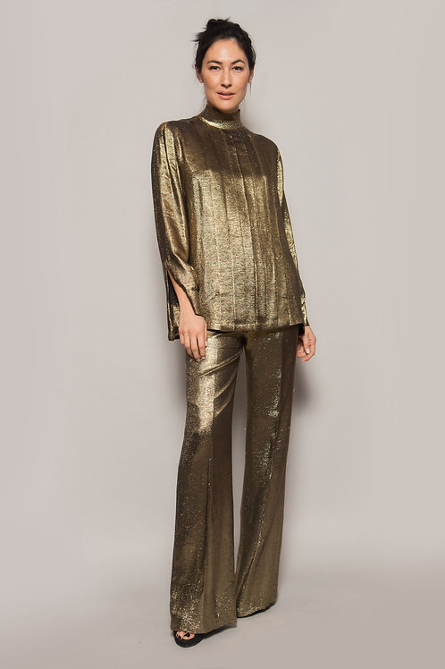 Gold Lurex Pant Set