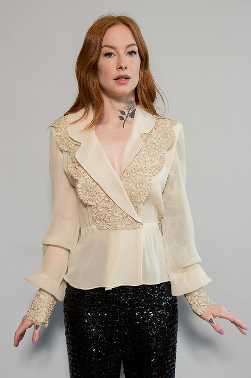 Estevez Silk/Lace Blouse