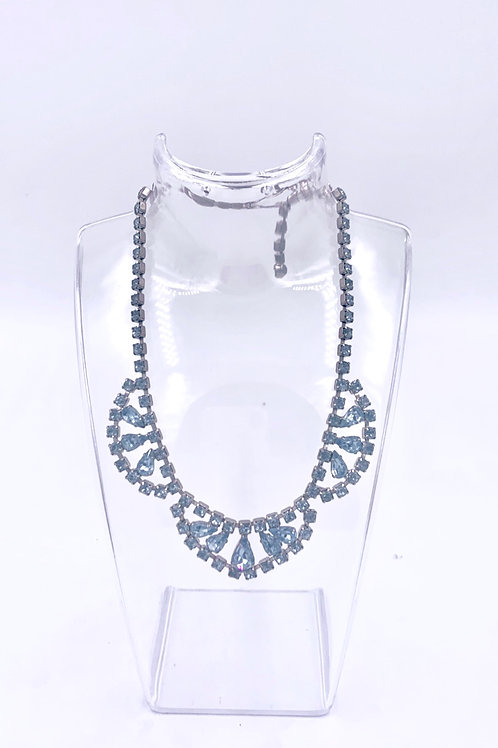 Something Blue Weiss Crystal Rain Drop Necklace