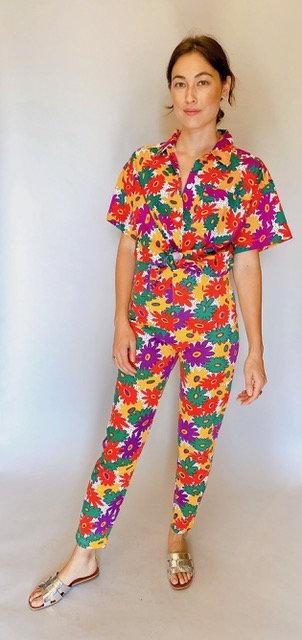 Esprit Floral Blouse and Cropped Pant Set