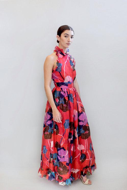 Saks Fifth Ave Floral Halter Neck Dress