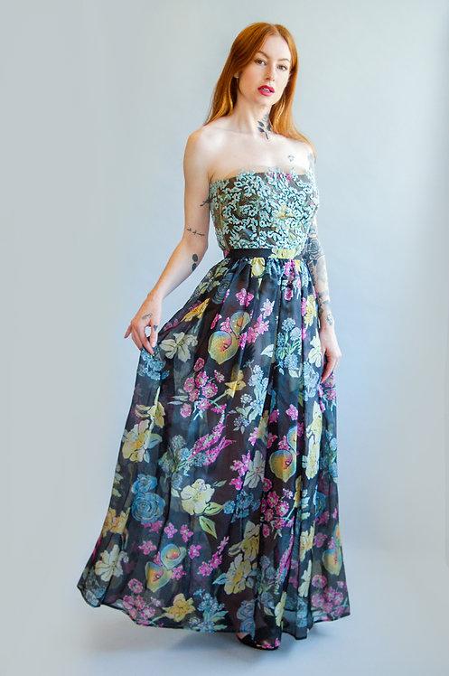 Vintage Giorgio Armani Beaded Bustier & Skirt Set
