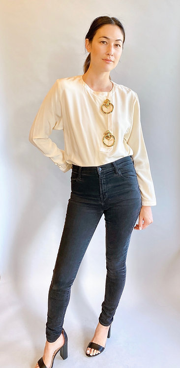 Valentino Silk Blouse with Door Knocker Hardware