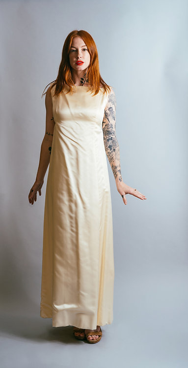 "60's Marshall Fields ""28 Shop"" Silk Wedding Gown"