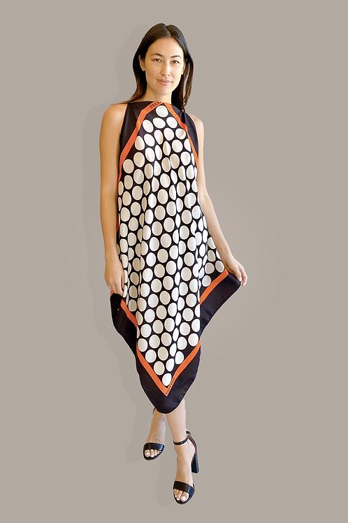 Estevez Polka Dot Handkerchief Dress