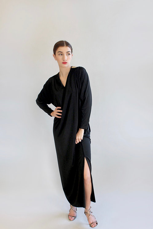 Bill Tice Black and Gold Jersey Caftan