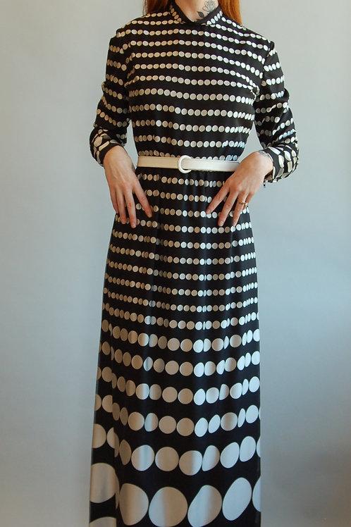 70's Bill Blass Polka Dot Dress