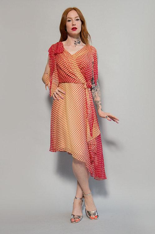 Custom Silk Chiffon Dress