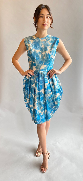 1959 Printed Bubble Dress, Christian Dior Style