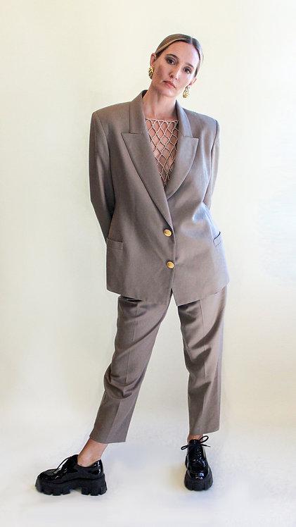 Khaki Oversized Suit