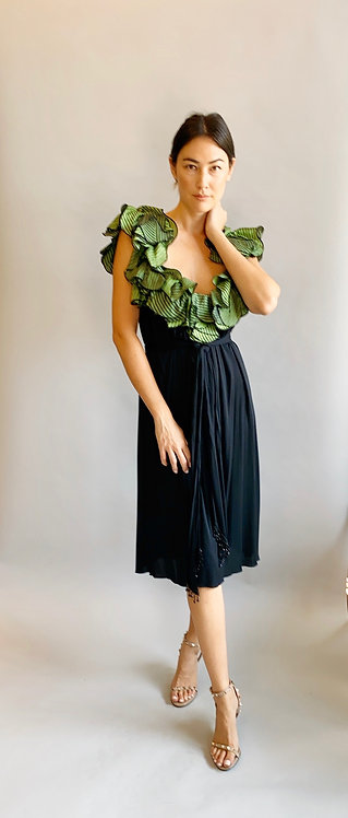 Hollys Harp Ruffled Collar Jersey Dress