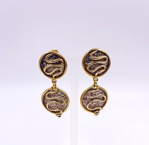 """""""Graft"""" Snake Drop Earrings"""